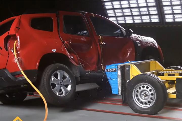 SUV compacto vai mal na primeira rodada de testes de segurança do programa no ano, com resultados ruins nos testes de impacto lateral, frontal, traseiro e na segurança para pedestre